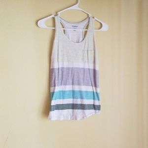 a striped old Navy tank top